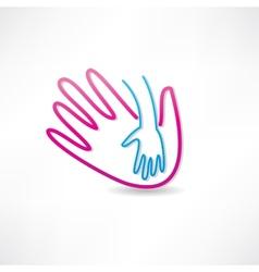 parental hand icon vector image