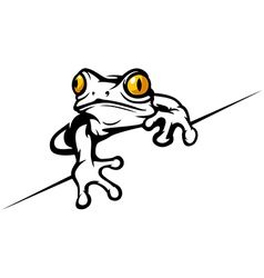 Frog cool vector