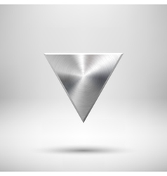Abstract triangle button template vector