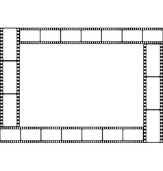 Film strip template border vector