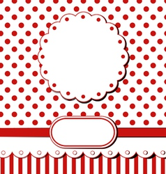Scrap greeting card vector