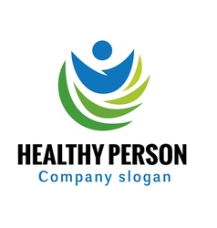 Healthy person design vector