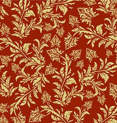 Royal floral background vector