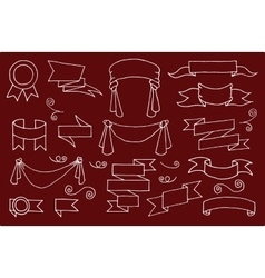 Doodle banners set vector