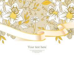 ribbon florals vector image