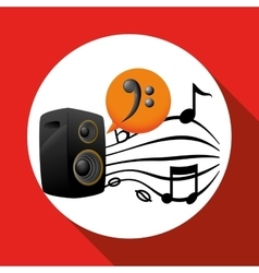 Music design speaker icon isolated vector
