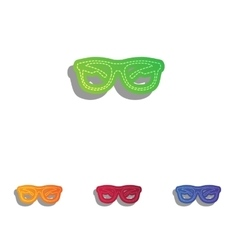 Sunglasses sign  colorfull applique vector