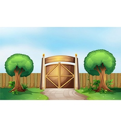 A gated park vector image vector image