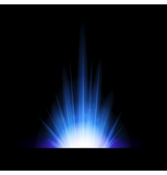 Abstract background with blue lighting flare vector image vector image