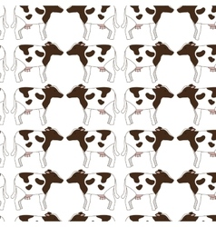 Animal farm pattern background vector