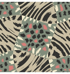 animal fur patchwork print template vector image