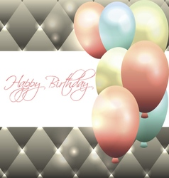 Beautiful card for birthday with grey background vector