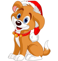 Christmas dog vector