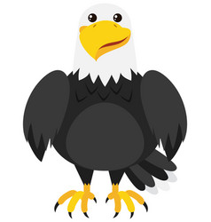 eagle with happy face vector image