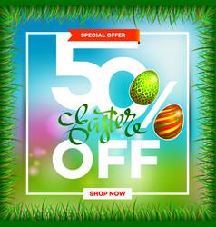 easter egg sale banner background template 4 vector image vector image