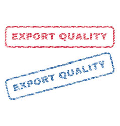 Export quality textile stamps vector