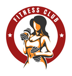 Fitness club color emblem vector