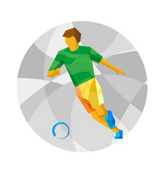 Football player with abstract patterns vector