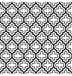 Geometric seamless pattern moroccan tiles design vector
