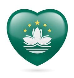 Heart icon of macau vector