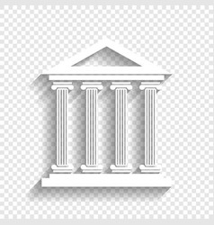 Historical building white vector