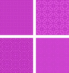 Magenta seamless pattern background set vector