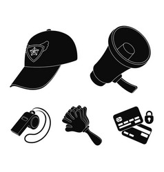 Megaphone whistle and other attributes of the vector