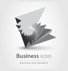 Originally created business icon in 3d like style vector