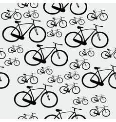 Pattern bicycle vector image vector image