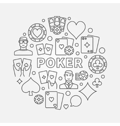 Poker round vector