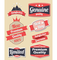 Retro design label set 3 vector image