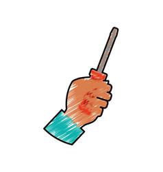 screwdriver construction tool equipment vector image vector image