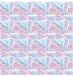 seamless pattern with colorful line textures hand vector image vector image