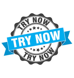 Try now stamp sign seal vector
