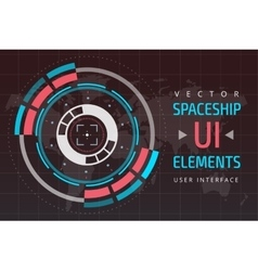 Ui hud infographic interface web elements vector