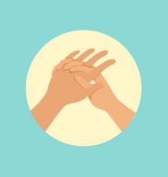 Washing hands procedure round vector