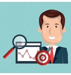 Man target page web search vector