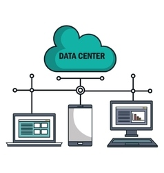 Technology equipment cloud data center isolated vector