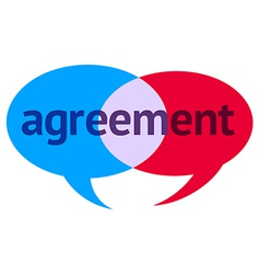 Agreement speech bubble vector