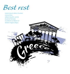 Travel greece grunge style vector