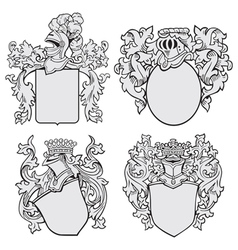 set of aristocratic emblems No1 vector image