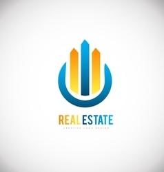 Real estate building skyscraper logo icon design vector
