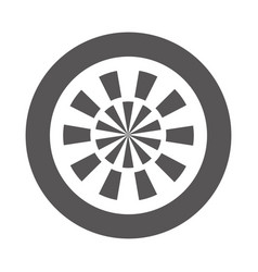 Target goal isolated icon vector