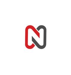 letter n icon alphabet symbol vector image