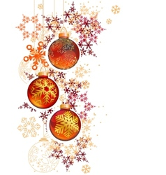 Pretty trendy with hanging christmas balls and vector