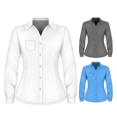 Formal long sleeved blouses for lady vector image