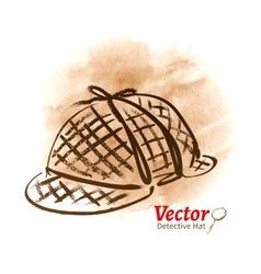 Detective hat vector