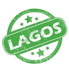 Lagos green stamp vector