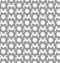 Perforated simple gears vector