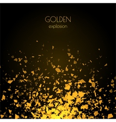 Abstract golden background with explosion vector